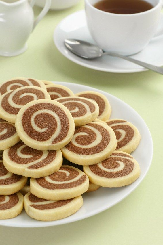 Chocolate-Vanilla Marbled or Pinwheel Cookies for Chocolate Monday • The Heritage Cook ®