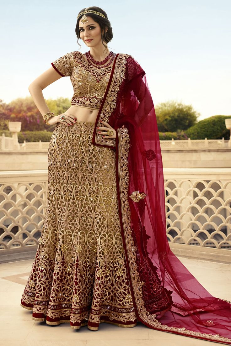 #StyleOfTheDay Buy This Beige-Maroon Full Cut Work With Lycra Heavy Embroidery Work Designer Bridal Lehenga Choli. Buy Now:- http://www.lalgulal.com/lehenga-choli/beige-maroon-full-cut-work-with-lycra-heavy-embroidery-work-designer-bridal-lehenga-choli-701 #CashOnDelivery & #FreeShipping only in India. For Other Query Just Whatsapp Us on +91-9512150402 Or Mail Us at info@lalgulal.com.