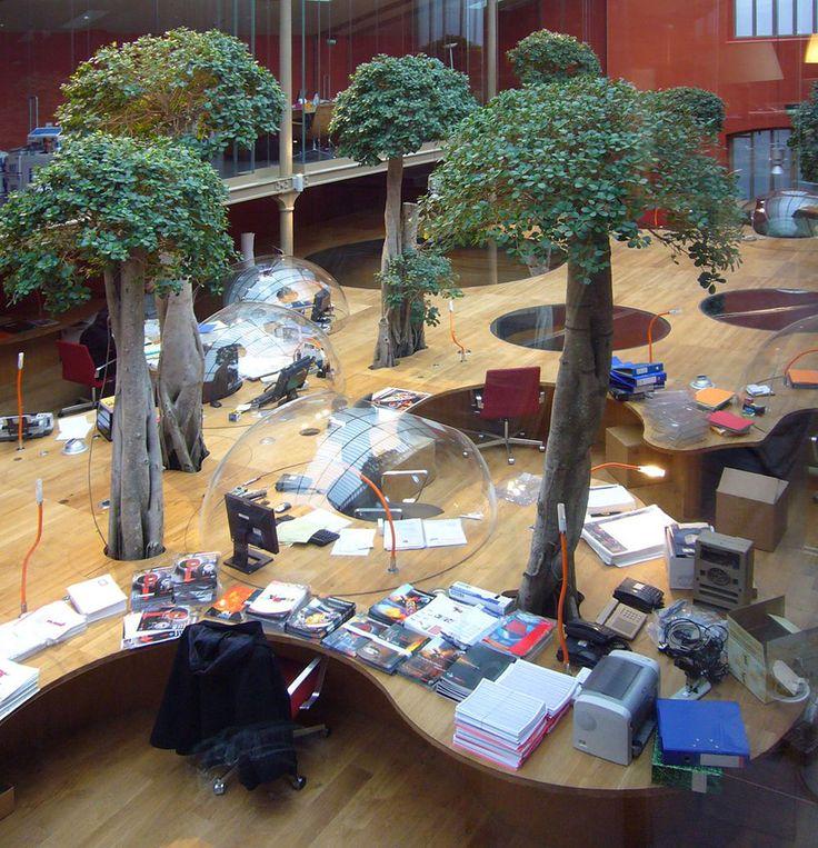 Un open space de deux entreprises d'architecture