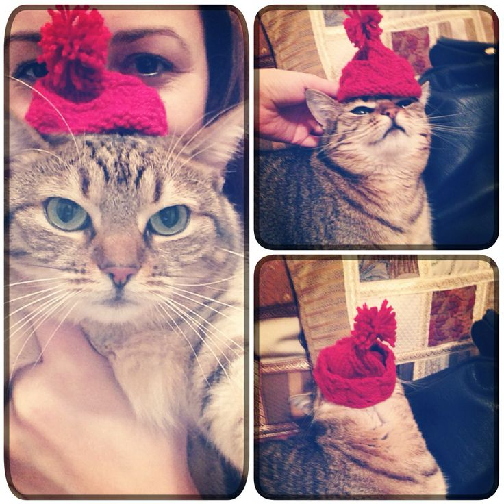 I made this little red cap for my dear friend Masha. She did't like it, but I think she appreciated the gesture.