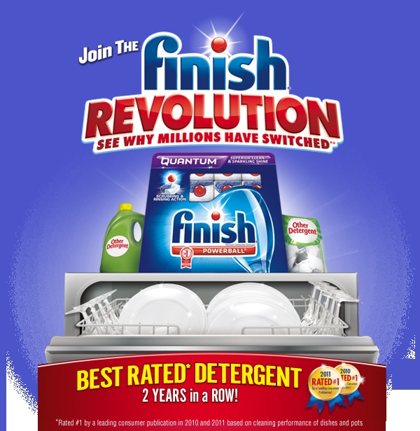 I am so impressed with finish and how it works I could be a spokesperson for it!!!! I have never ever had such shiny silverware and finally I no longer have to re-wash my dishes when I empty the dishwasher. Try it!!!!!
