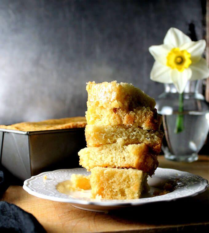 Vegan Zitronen Olivenöl Pfund Kuchen