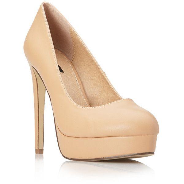 Forever 21 Posh Platform Pumps (6.725 HUF) ❤ liked on Polyvore featuring shoes, pumps, heels, zapatos, heels & pumps, pointed shoes, round toe shoes, pointy shoes and platform heels pumps