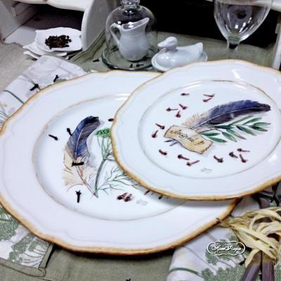 """Тарелка, тарелка на свадьбу, свадебные тарелки, сервировка свадебного стола, сервировка стола, экостиль, свадьба, роспись фарфора, фарфоровая тарелка, рассадочные карточки, тарелки с именем, тарелки на свадьбу, фарфоровая посуда, надглазурная роспись   Мастерская """"Артфлера"""""""
