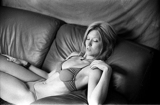 """Frau JS"" | Black & White | 35mm | Portrait | Bikini | Swimwear"