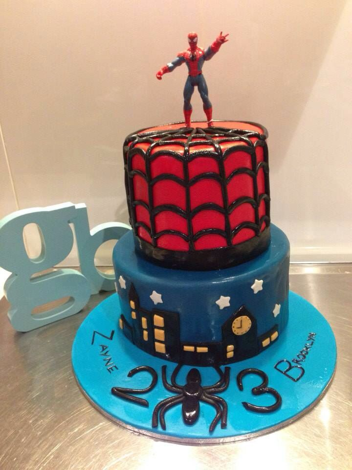 Two tier Spider Man Cake by Grace Baking