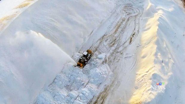 Moncton snow pile