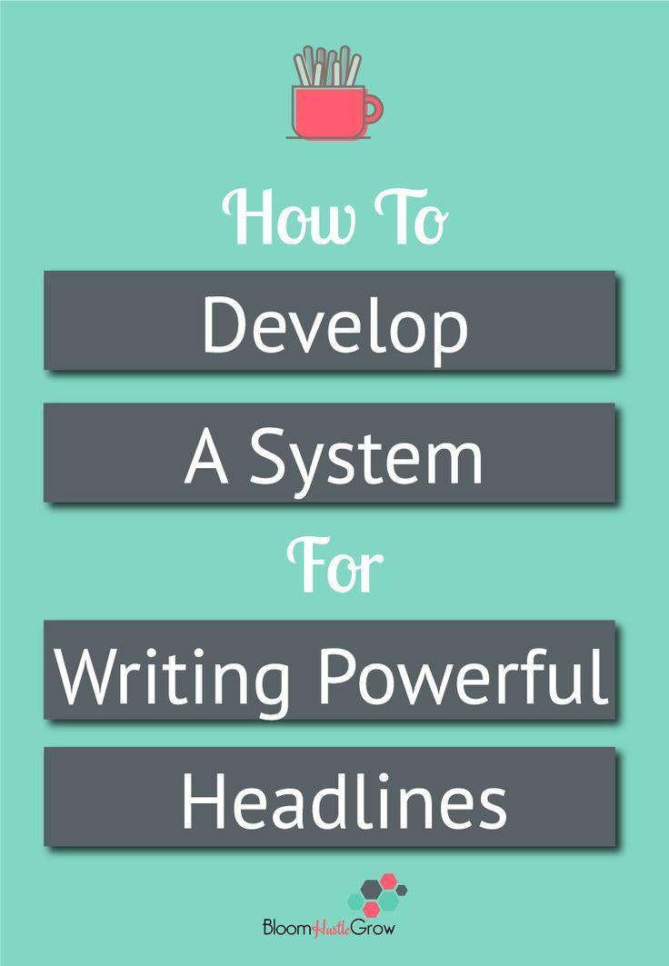 How To Make Writing Effective Headlines Easier. Blog TipsWriting  TipsBusiness ...