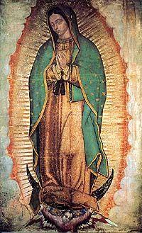 La Virgen de Guadalupe, religious icon in Mexico.