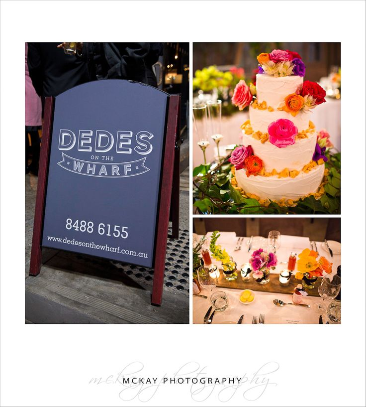 Dedes on the Wharf - wedding venue in Sydney at Walsh Bay Pier 2  McKay Photography - http://www.mckayphotography.com.au