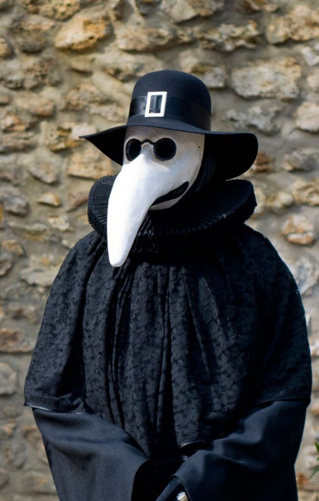 The plague doctor. Traditional mask from the Venice carnival