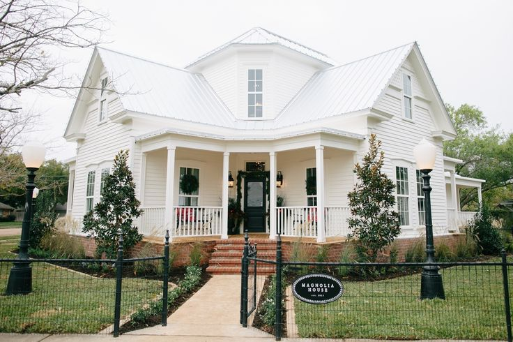 Fixer Upper hosts Chip and Joanna Gaines chose a standing seam metal roof for their new B&B, Magnolia House in Waco, TX.  That white roof is highly reflective, and will protect the home from Texas-sized hail!