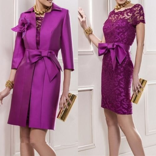Gorgeous Mother Of The Bride Dresses With Long Coat Women Formal Evening Gowns