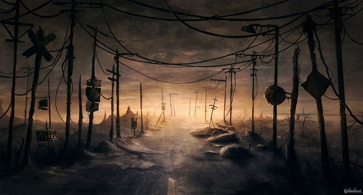 Lost Road Picture  (2d, landscape, post apocalyptic)