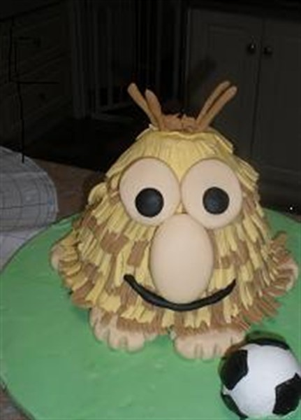 Grug cake - just need to change soccer ball to a rugby ball!