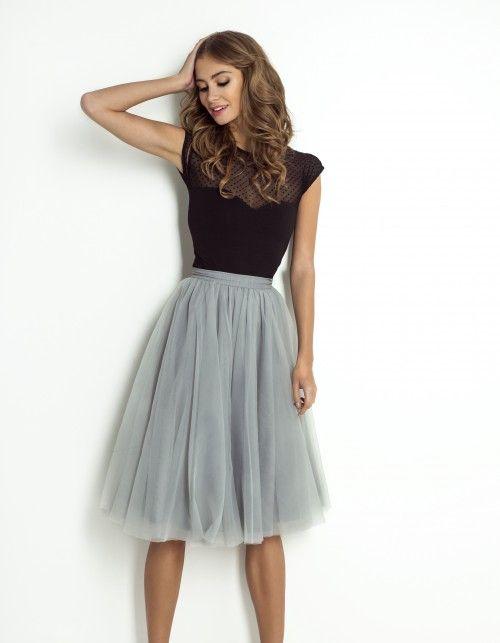 Tüllrock Yasmine hellgrau (Vintage Fashion Trends)