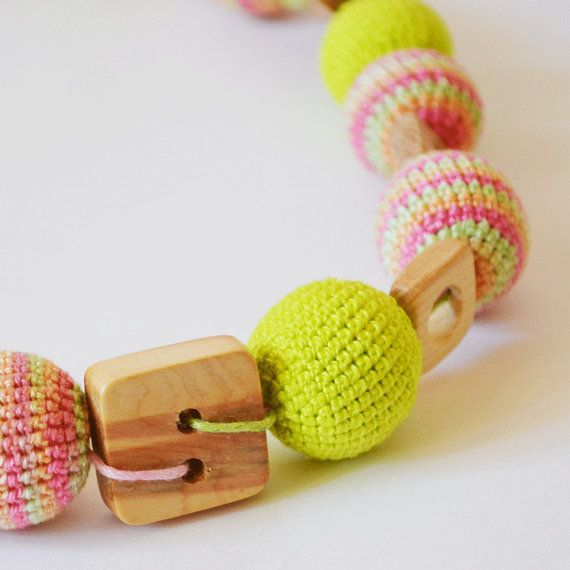 Crochet Nursing Necklace - Necklace Breastfeeding jewelry Shower Gift