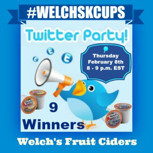 Join US! Thursday, February 8th for the #WELCHSKCUPS Welch's Fruit Cider #TwitterParty #Twitter #Party #Foodie #Drink #Winter #Summer #KCup https://www.sweetsouthernsavings.com/welchskcups-welchs-fruit-cider-twitter-party/