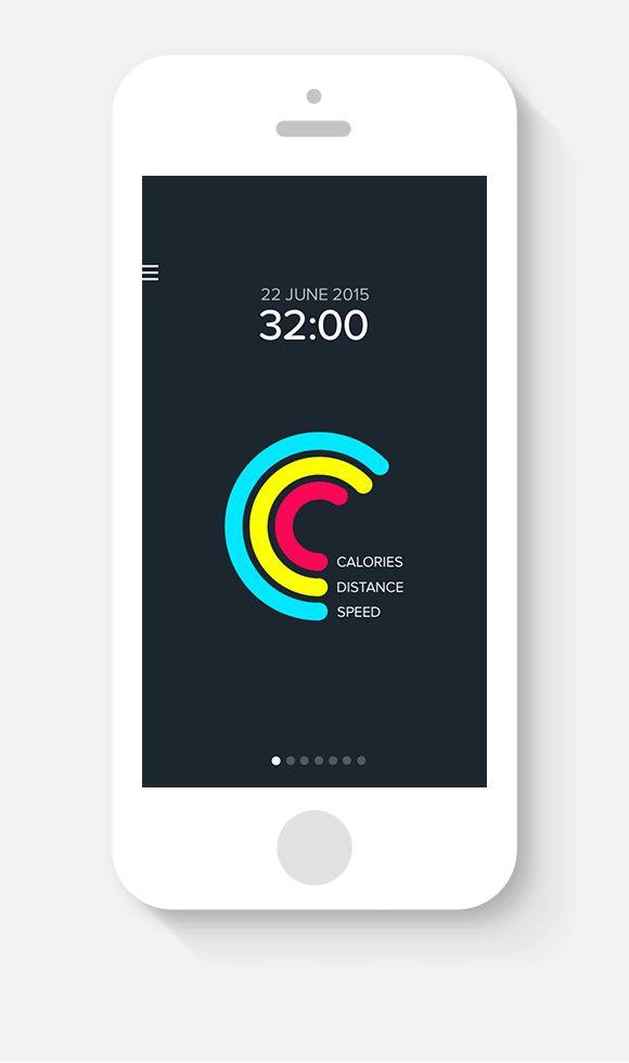 Accurun - An iOs running tracker app on Behance