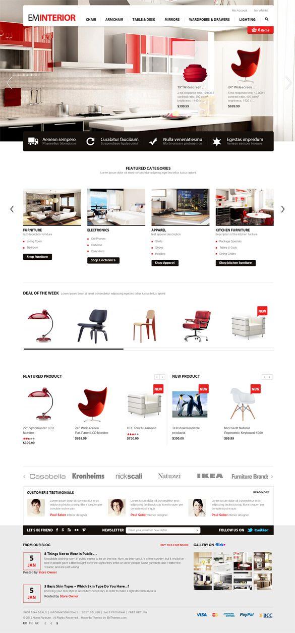EM Interior, Magento Responsive Furniture Theme