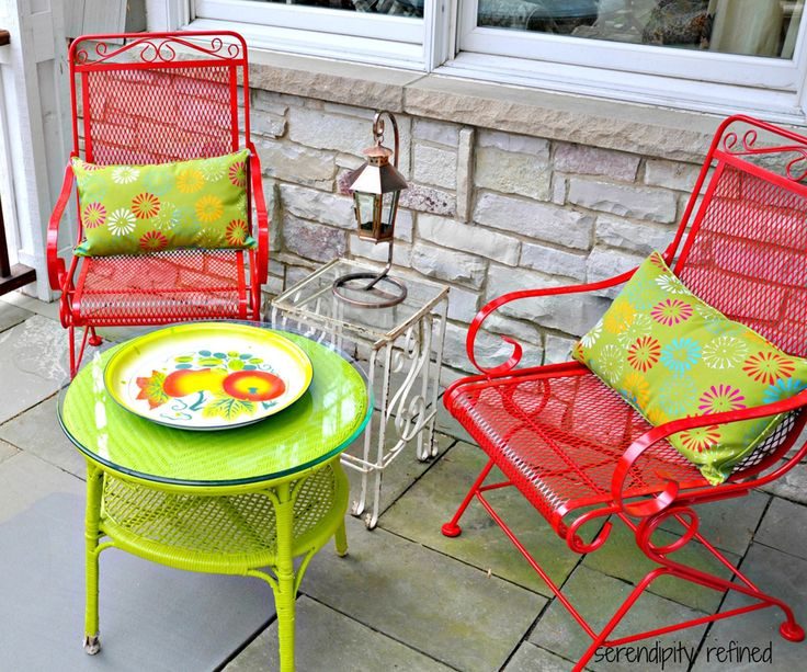 125 best deck & patio makeover ideas images on pinterest | patio ... - Small Patio Furniture Ideas