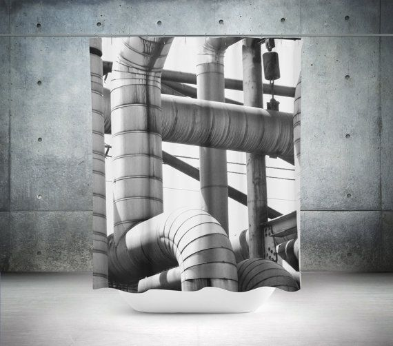 Photo Shower Curtain Industrial Shower by PillowsforthePlanet
