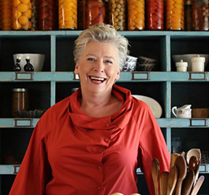 Maggie Beer, the girl whose cooking is so delicious you always have to supress the urge to lick the plate. Pheasant Farm, Adelaide. It was voted Restaurant of the Year in Australia so many times and also why she gained such a legion of loyal fans.