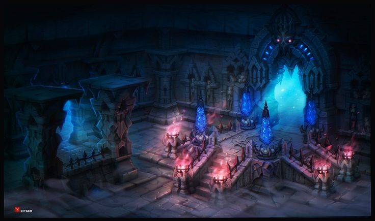 Dungeon 1, Dmitriy Barbashin on ArtStation at https://www.artstation.com/artwork/dungeon-1-2ea9fa08-fce0-4c4a-b9e1-cefb681145df