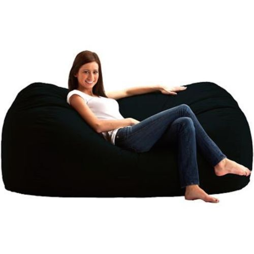 fuf 6 39 media lounger bean bag memory foam oversize large