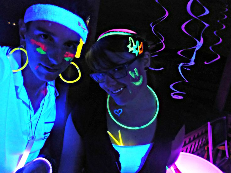 Everyone loves glowsticks! | Black Light Party | Cosmic Events