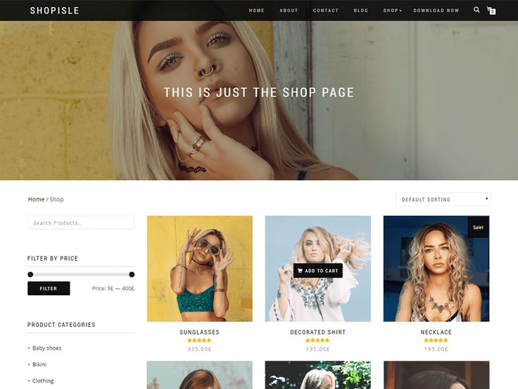 ShopIsle is the perfect free theme designed for your WooCommerce shop based on bootstrap.