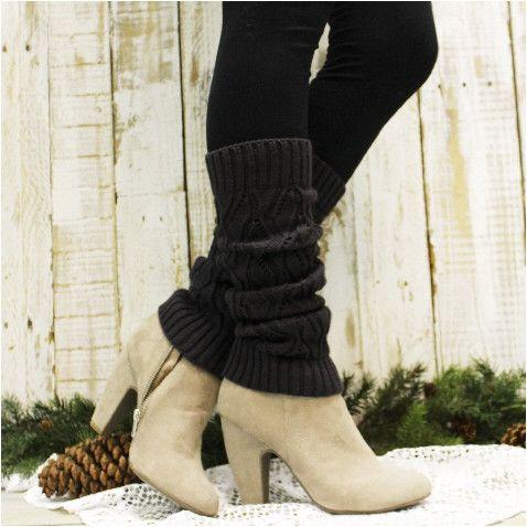 NOEL basic leg warmer - dark grey