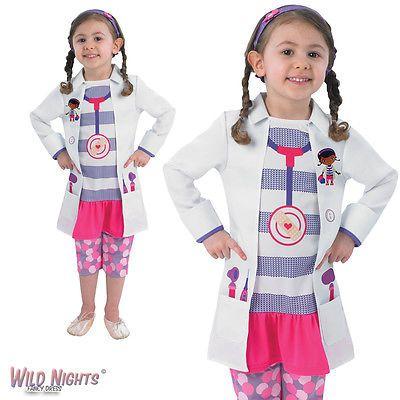 FANCY DRESS COSTUME ~ GIRLS DISNEY DOC MCSTUFFINS CHILD AGE 2-6 YEARS