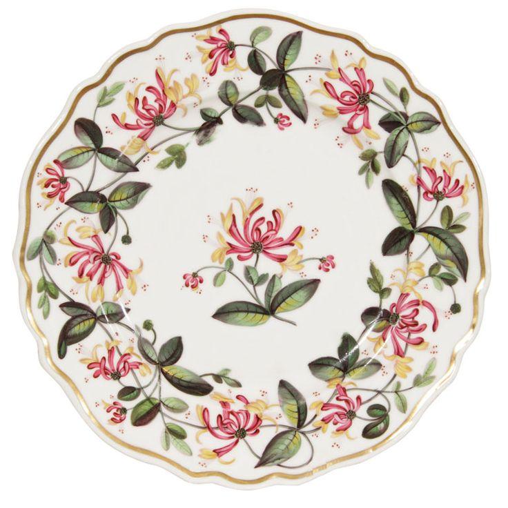 A Set of a Dozen Chamberlain's Worcester  Dinner Plates 1840