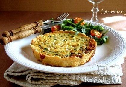 Medvehagymás-sajtos mini piték: http://www.nosalty.hu/recept/medvehagymas-sajtos-mini-pitek