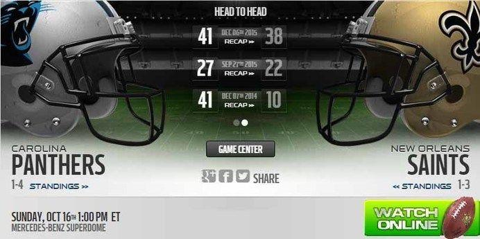 http://panthersvssaintslive.us    Panthers vs Saints Live