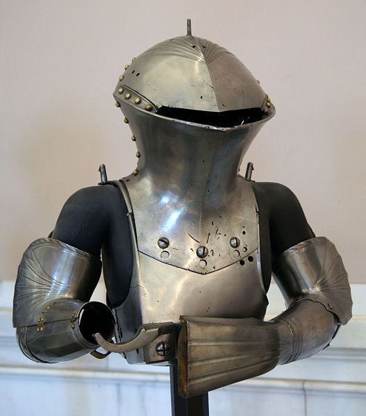 Jousting armor commissioned by Maximilian I in 1494. Jörg and Lorenz Helmschmid