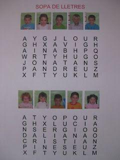 Els nostres noms ens permeten realitzar moltes activitats de lectoescriptura. Aquí podeu veure algunes activitats que fem a la classe i que ...