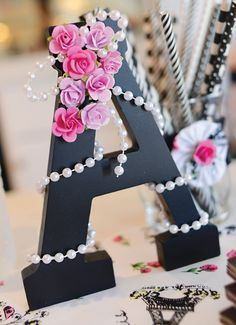 Letra do nome decorada#Fashion Paris