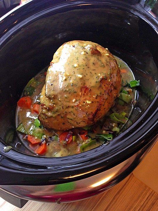 Schweineschinkenbraten aus dem Crockpot, Slowcooker, ein schmackhaftes Rezept aus der Kategorie Schmoren. Bewertungen: 3. Durchschnitt: Ø 4,0.