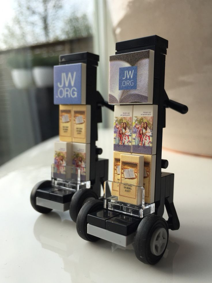 Lego custom concept jw.org public witnessing cart - so cool!