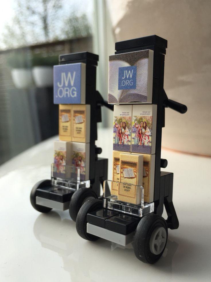 Lego custom concept jw.org public witnessing cart