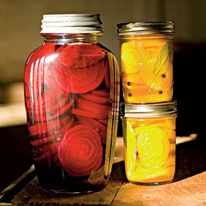 Recipes for Pickled Vegetables | Easy Pickled Beets | CookingLight.com. I want these jars too.