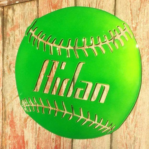 Hey, I found this really awesome Etsy listing at https://www.etsy.com/listing/470288221/metal-wall-art-custom-baseball-custom