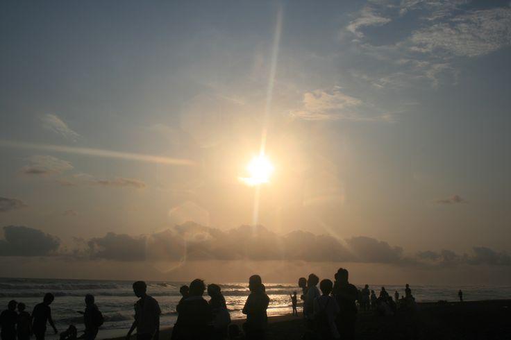 Sunset at Kuta Beach, Bali Indonesia
