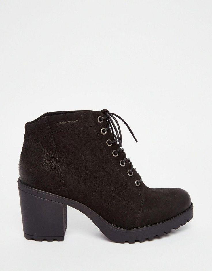 750240dc984e Vagabond Grace Black Nubuck Lace Up Ankle Boots £80.00   shoes   Pinterest    Ankle boots, Ankle and Black