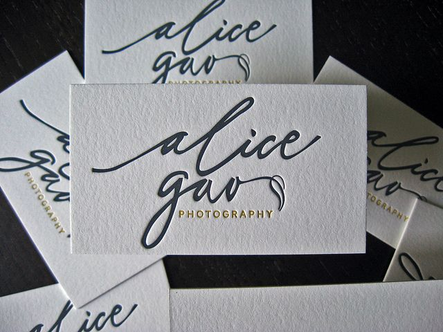 Alica Gao - Letterpress Logo | Flickr - Photo Sharing!