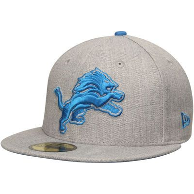 Detroit Lions New Era Heather League Basic 59FIFTY Fitted Hat - Heathered Gray
