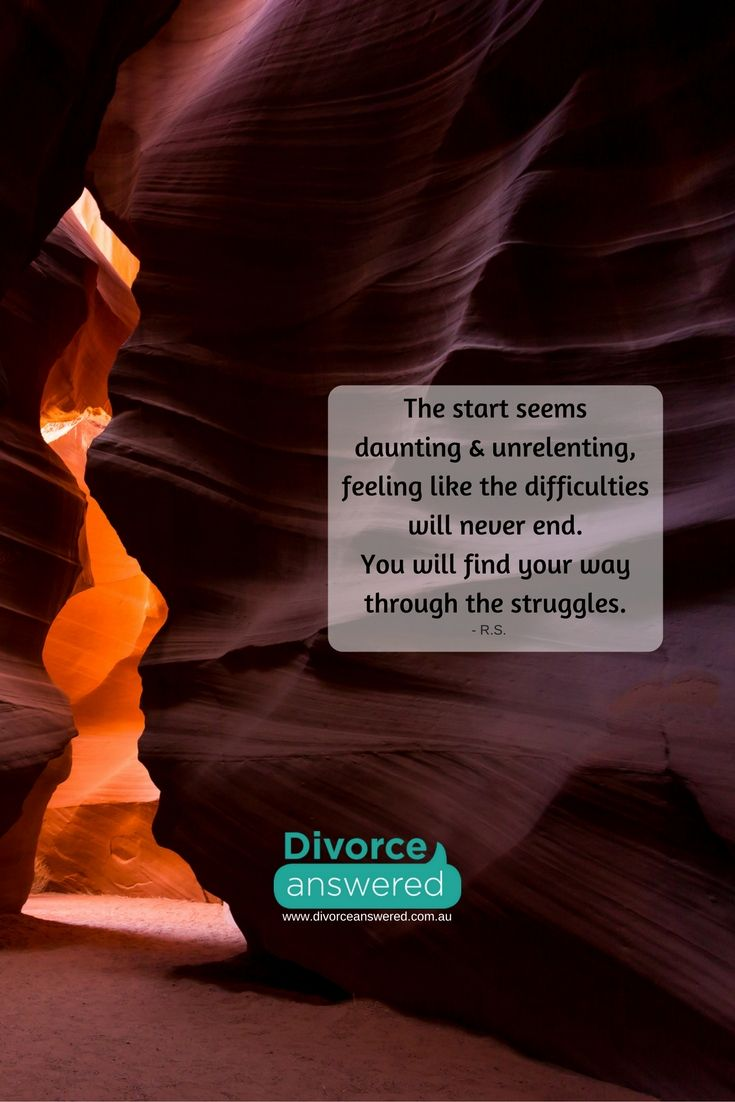 When first separated, the process of divorcing seems hard and challenging. You will make it through and it does get easier. #divorceanswered #divorce #separation #difficultstart #easiertimesahead