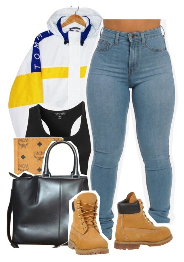 """""""Shameless"""" by kiaratee ❤ liked on Polyvore featuring Tommy Hilfiger, Topshop, MCM, Alexander Wang and Timberland"""